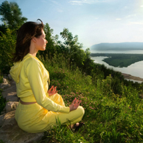 1 Meditating Woman Mountain